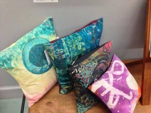 Batik Pillows by Madsen Arts