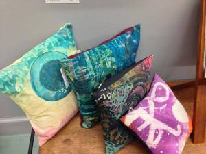 Batik Pillows by Madsen Arts