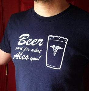 Beer t-shirt by Blackbird and Peacock