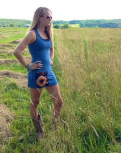 Upcycled yoga dress by Three Whiskers Farm